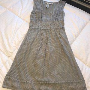 Lace gray dress